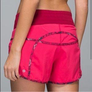Lululemon pink tracker shorts